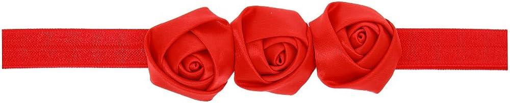 Love Sweety Baby Girls Satin Rose Flower Headband Cute Hair Accessories