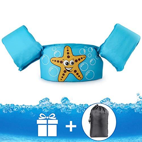 JEVDES Schwimmflügel Puddle Jumper, für Kinder und Kleinkinder von 2-7 Jahre, 14-23kg, Schwimmhilfe mit verschiedenen Designs für Jungen und Mädchen (Seestern)