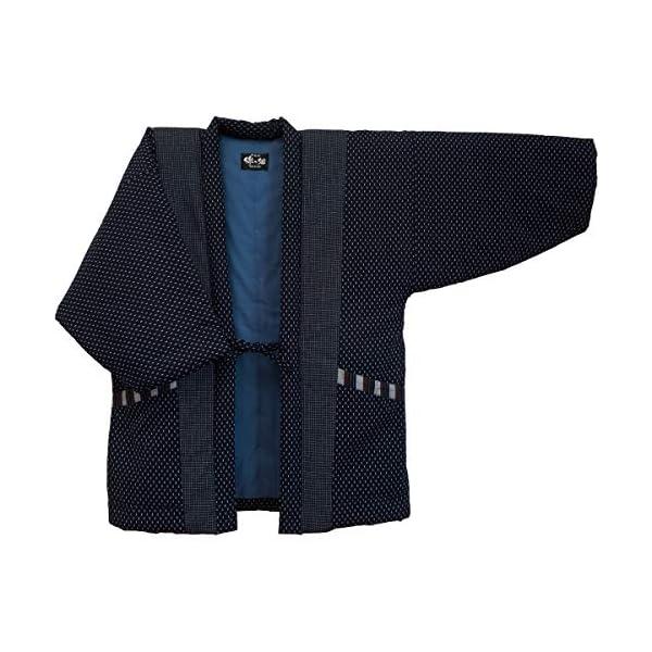 WATANOSATO Hail pattern Hanten (Cotton jacket made in Japan Kimono-style) Men's