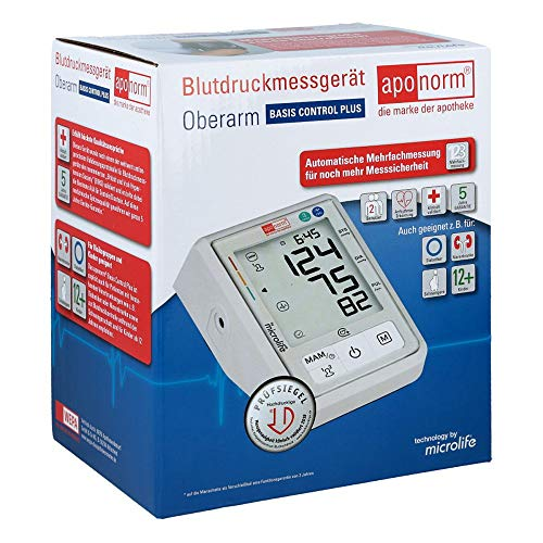 Aponorm Blutdruckmessgerät Basis Control Plus Oberarm, 1 St