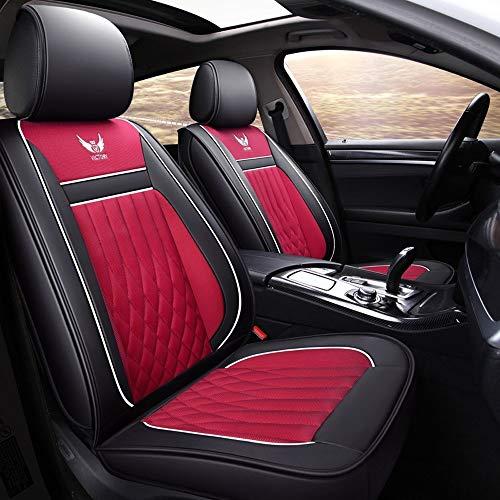 Babycool autostoelhoezen, voor en achter ademend textiel materiaal beschermer kussen 5 stoel volledige set universele compatibele airbags roze
