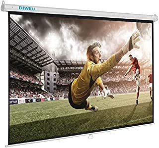 Projector Screen White Manual 305x305 cm DIWELL