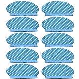 Piezas de Repuesto de la aspiradora 10pcs Fregona Tela Pad Set For Ecovacs Deebot Ozmo 920 950 Piezas del Aspirador De Reemplazo For El Hogar Accesorios de aspiradora (Color : Blue)