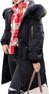 maweisong 女性フード暖かいフォークスファーダウンコート屋外パフジャケット