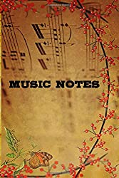 Blank Sheet Music: Vintage Music Manuscript Paper for Guitar & Piano / Staff Paper / Musicians Notebook / Antique: 6×9 size 120 pages blank guitar music notes Music composition for beginners to expert