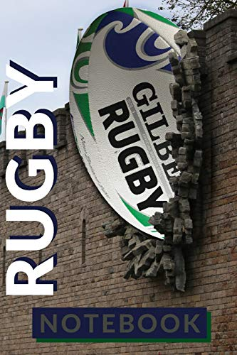 RUGBY NOTEBOOK: My Rugby 120 page ruled 6 x 9 notebook jotter bullet journal for notes   Ideal gift for any Rugby Fan   Picture Rugby ball in wall of Cardif Castle - Rugby World Cup