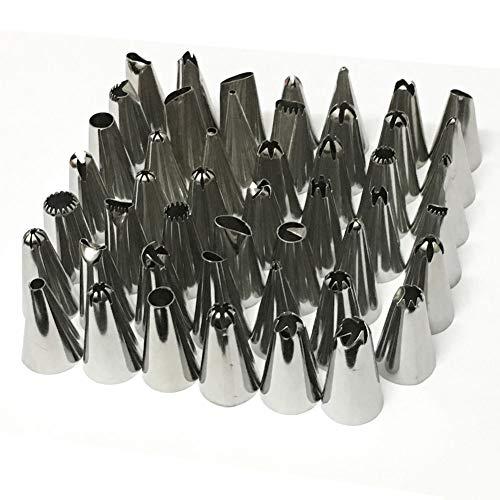 animgb Spritztüllen-Set, 48 Stück/Set, gute Qualität, Edelstahl, Spritztüllen, Gebäck, Kuchendekoration, Backwerkzeug