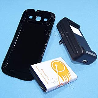 URS2GO 7300mAh Substitutable Extended Battery Special Wall Charger Back Cover for Samsung Galaxy S3 III i9300 SGH-i747 Phone