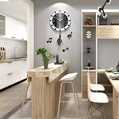 WANGXINQUAN Reloj de pared minimalista para sala de estar, ambiente creativo, dormitorio, hogar, moda, mesa colgante silenciosa, 39 x 66 cm