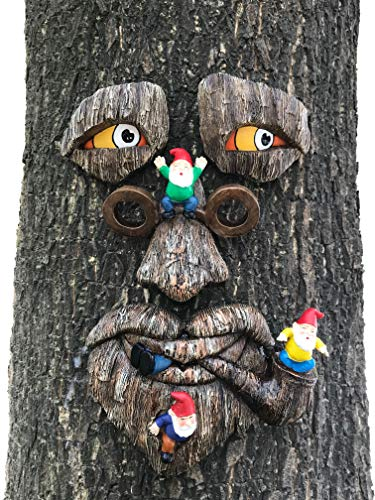 By Mark & Margot - Tree Face Garden Gnome Massacre - Best Art Décor for Indoor Outdoor Home Or Office (Tree Face Mischievous Gnomes)