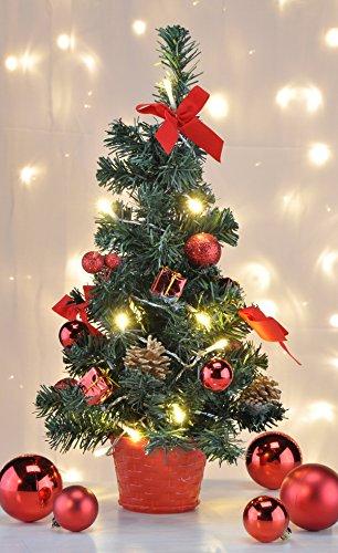 Deko Weihnachtsbaum mit LED-Beleuchtung und Christbaumkugel Christbaumschmuck 55576