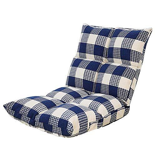 PIVFEDQX Lounge Sofá Cama Plegable Suelo Ajustable Tumbona Futón Colchón Asiento Silla, Azul-555552cm