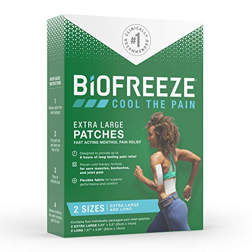 Biofreeze Pain Relief Patch Variety Pack, Fast Acting, Long Lasting, & Powerful Topical Pain Reliever
