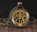 Tanzende Shiva Halskette, Nataraja Halskette, Statue von Dancing Shiva Anhänger, Cosmic Dancer,...
