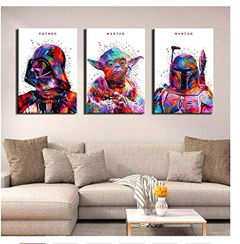 nr Abstrakte Star Wars HD Druck Leinwand Kunst Malerei Poster Bild Wohnzimmer-40x60cmx3 Rahmenlos
