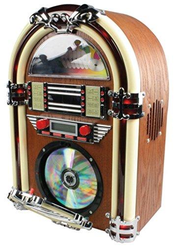 BasicXL Retro Jukebox with Am/FM Radio and CD-Player