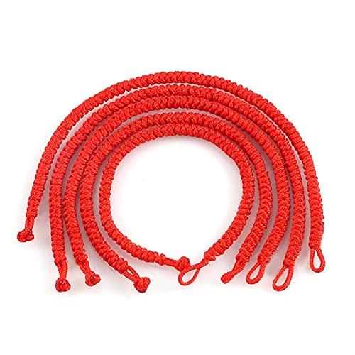 Pulsera Pulsera Trenzada de Cuerda roja Simple Lucky Hilo A Mano Hecho A Mano Amante Pulseras y Brazaletes para Mujeres Joyería De Moda Parejas del Encanto Regalo Moda