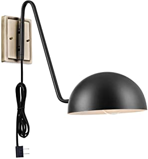 Novogratz x Globe Electric 51373 Addison Wall Sconce, Black