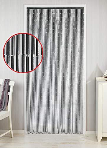 Wenko Bambusvorhang für Balkontür - 65 Stränge - Gegen Insekten - Luftzirkulation