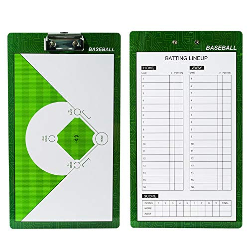 VHGYU Taktiktafel Trainer Marker Brett 2-seitig Premium Dry Erase Zwischenablagen Doppelseitig Dry Erase Trainer Marker Brett Baseball Trainer Lineup Boards for Trainer geeignet Wettbewerb Assistent