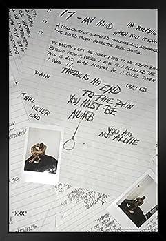 Xxxtentacion 17 Album Cover Art Merch XXX Bad Vibes Forever Skins Trap Music Aesthetic Black Wood Framed Art Poster 14x20