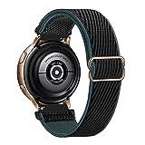 Lobnhot 22mm Solo Loop Compatible con Correa de Reloj de Samsung Galaxy Watch 3(45mm/44mm)/Watch 46mm/Gear S3 Classic/Frontier,Nylon Elástico Ajustables (22mm-Carbón)