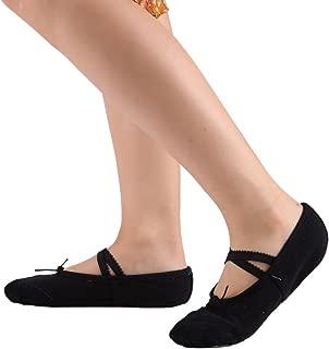 Leezo - Zapatillas clásicas de ballet planas, para