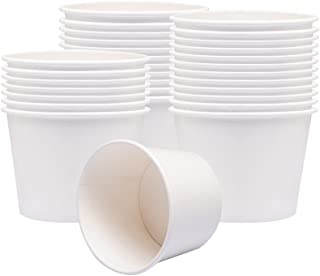 Benail Paper Soup Cups, Paper Hot/Cold Ice Cream Cups - 100 Count (White) (12 oz)