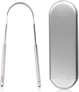 QINAIDI Tongue Scraper for Healthy Oral Care, Removes Bad Breath, Stainless Steel Tongue Cleaner, Oral Care Product
