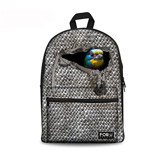 Injersdesigns mochila casual bolsas de escuela de lona para los niños mochilas animales patrón bookbags para las niñas adolescentes chicos mujeres hombres viajes mochila portátil (CA5423J)