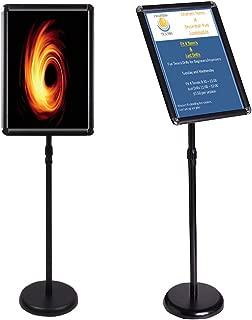 Egeen Adjustable Poster Stand Floor Standing Poster Holder Notice Stand Sign Holder for Wedding/Show/Display/Advertisement(Black, A4)
