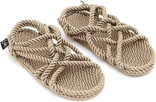 Nomadics JC Unisex-Erwachsene Sandale aus Seil Camel, 40
