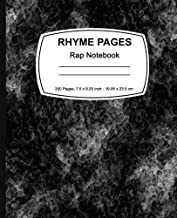 Rhyme Pages: Rap Notebook: Rap Notebook 200 page Edition