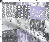 lila, Hirsch, Quilt, lila, lavendel, Patchwork Stoffe -