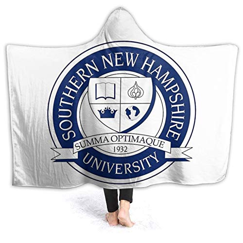"""Needlove Southern New Hampshire University (SNHU) Ultra Soft Light Weight Hooded Throw Blanket Comfy Fluffy Quilt for Bed Couch Sofa Living Room Picnic Suitable All Seasons 60"""" x50"""