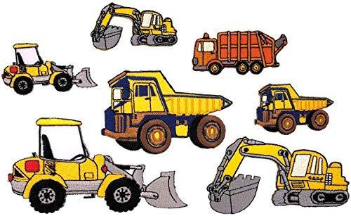 i-Patch - Patches - 0111 - Feuerwehr - Polizei - Müllwagen - Traktor - Baufahrzeug - Auto - Trecker - Flicken - Aufnäher - Badges - Bügelbild - Aufbügler - Iron-on - Applikation - zum aufbügeln