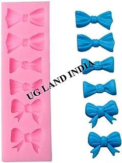 UG LAND INDIA 6 Cavity Small Bow Bowknot Silicone Mold for Fondant Cake Decoration Resin 6 Bows Silicone Fondant & Gumpast...
