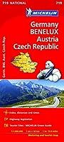 Germany, Benelux, Austria, Czech Republic - Michelin National Map 719 (Michelin National Maps)