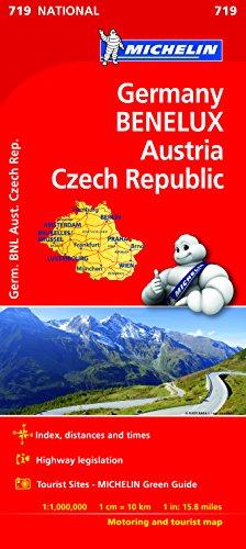 Mapa National Alemania BENELUX Austria Rep. Checa (Mapas National Michelin)