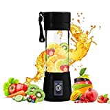 Jukkre Portable Blender, 4 Blades Mini Fruit Juicer Electric Portable Rechargeable USB Blender Sports Bottle Juice Cup USB Rechargeable Fruit Mixing Machine