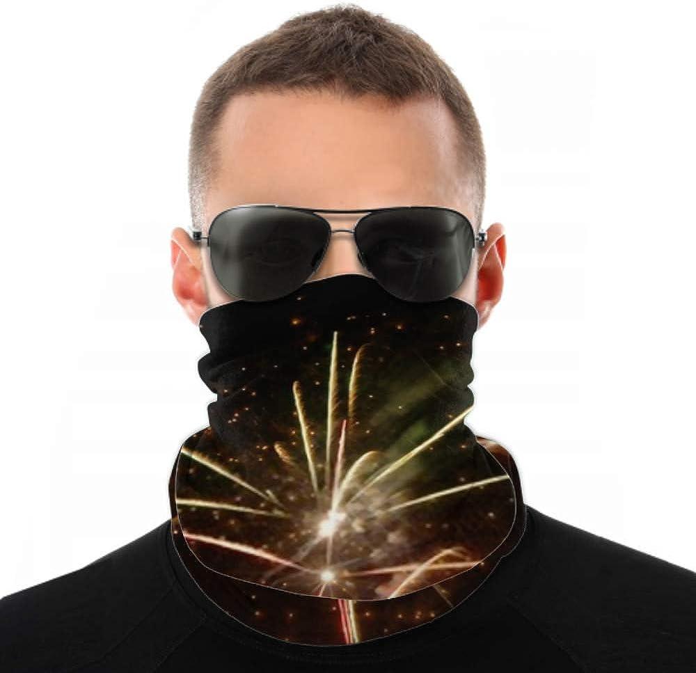 Headbands For Men Women Neck Gaiter, Face Mask, Headband, Scarf Colorful Fireworks Over Dark Sky Turban Multi Scarf Double Sided Print Running Headband For Sport Outdoor