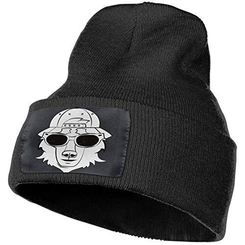 Gorro de Punto The Wolf and Cool Soft Winter Knitted Caps Gorro de Gorros de Calavera cálidos para Hombres y Mujeres