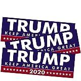 SBB 3pcs President Donald Trump Keep America Great 2020 Election Patriotic Bumper Sticker 9'x3' Car Auto Decal Conservative Republican (Blue