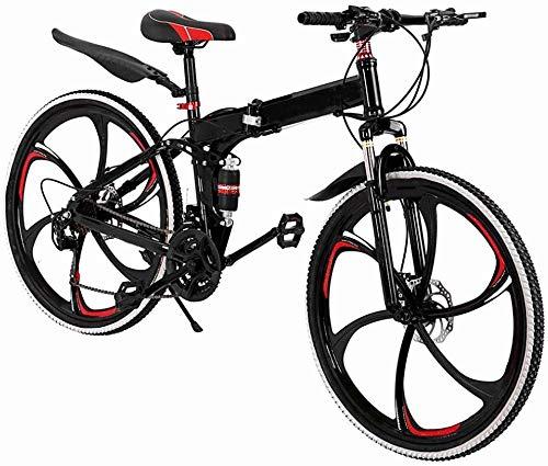 SYCY Bicicleta de montaña de 26 Pulgadas Frenos de Disco de Bicicleta de Carretera de suspensión Total de Aluminio de 21 velocidades 700c