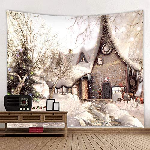 N / A Arte de la casa de Navidad Tapiz para Colgar en la Pared del hogar Decoración de Pared de Navidad Tapiz Decoración para el hogar A1 150x150cm
