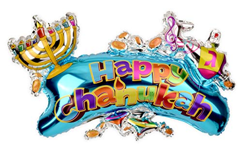 Hanukkah Balloon - Happy Chanukah XL Balloon - 24 inch x 36 inch - Hanukkah Décor