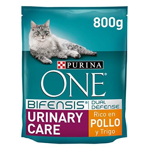 Purina One Bifensis Crocchette Gatto Adult Urinary Care Ricco in Pollo e Frumento, 8 Confezioni da 800 g Ciascuna, Peso Totale 6,4 kg