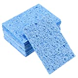 uxcell Soldering Sponge 50.9x35.7.x2.6mm for Iron Tips Cleaner, Rectangle Blue 10pcs