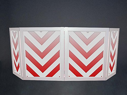Great Price! DJ Facade / DJ Booth - Dragon Frontboards: Trance 4 Panel /White Frame