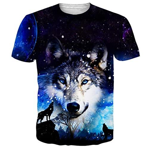 ALISISTER T Shirts Hombre Mujer 3D Personalizado Camisetas Galaxia...